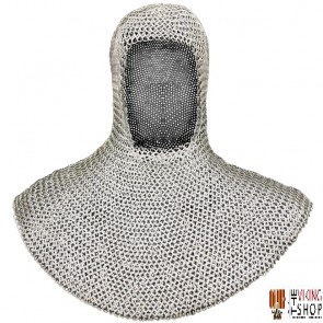 Chainmail Coif - Wedge Riveted - Flat Ring