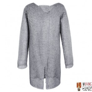 """Chainmail Hauberk - Butted - Zinc Plated - 64"""" Chest"""