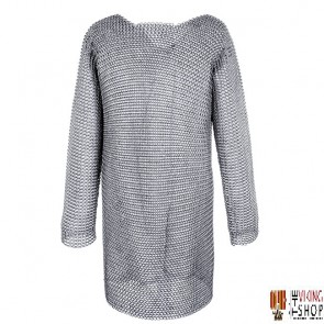 """Chainmail Hauberk - Dome Riveted - 60"""" Chest"""