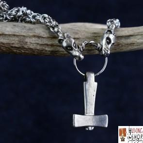 Uppsala Viking Hammer Pendant on Dragon Chain