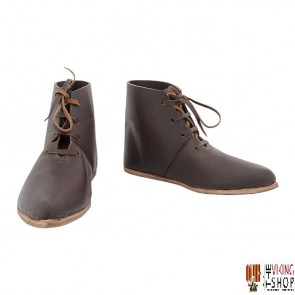 Re-enactment Medieval Laced Ankle Boots