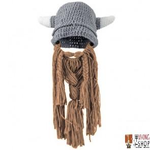 Knitted Viking Helmet Hat & Beard – Child Size