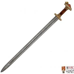 Grave 32 Vendel Chieftain's Sword - Brass - Damascus Steel