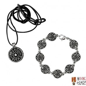 Viking Shield Pendant & Knotwork Bracelet Gift Set
