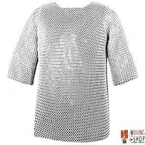 """Chainmail Haubergeon - Butted - Zinc Plated - 50"""" Chest"""
